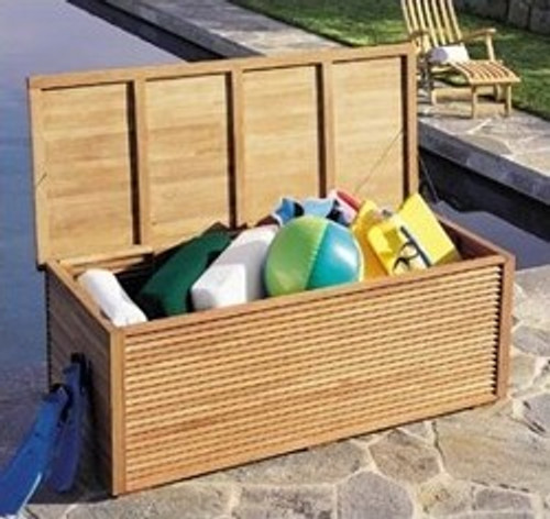 TEAK POOL STORAGE BOX ...