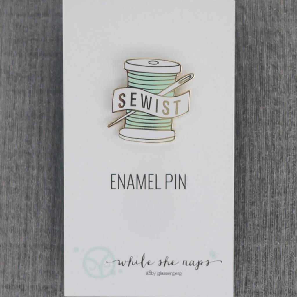 Sewist Enamel Pin (Aqua)