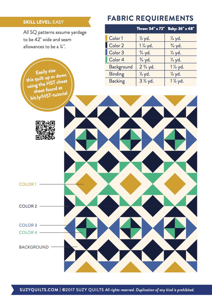 Nordic Triangles Quilt Pattern (PDF)