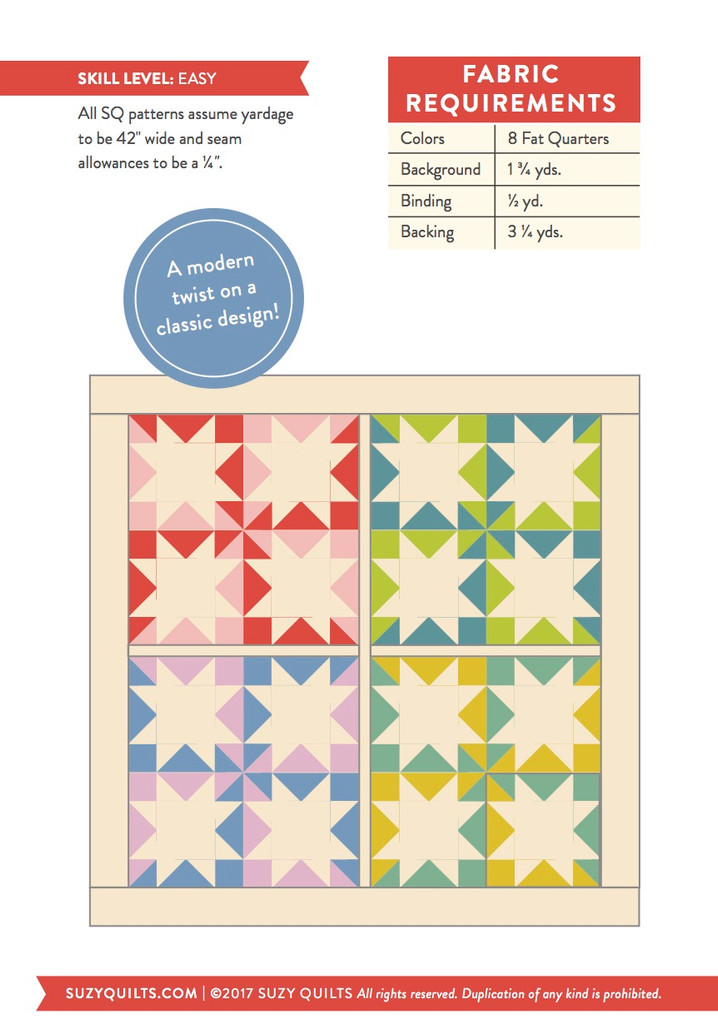 Stars Hollow Quilt Pattern (PDF)