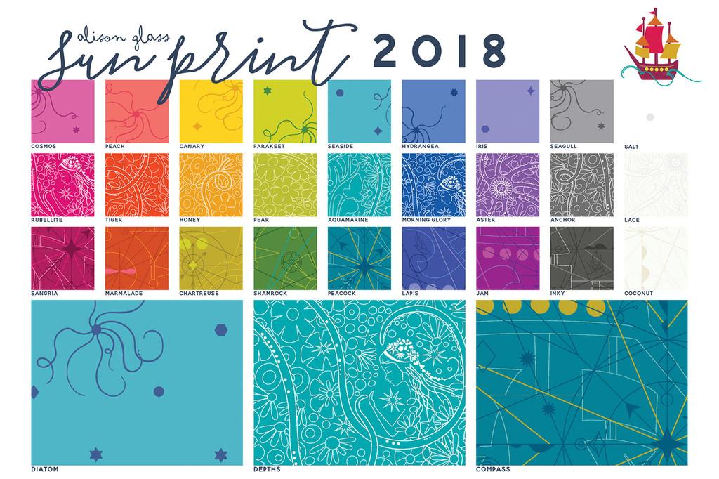 Sun Print 2018 - Compass - Peacock