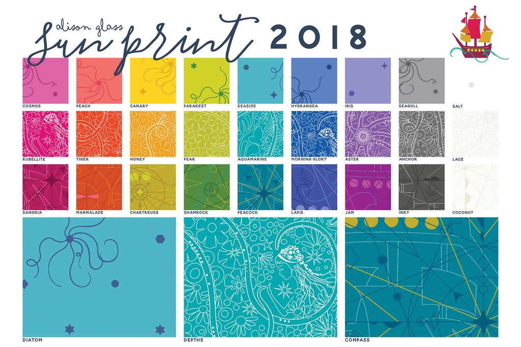Sun Print 2018 - Depths - Aquamarine