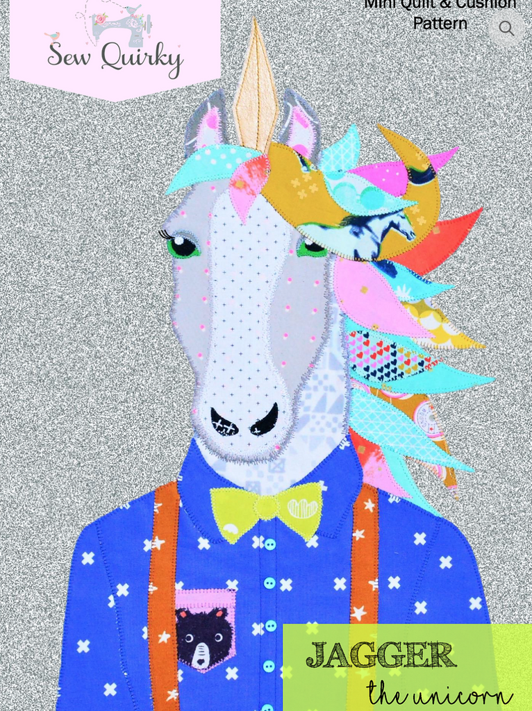 Jagger the Unicorn - Applique Pattern