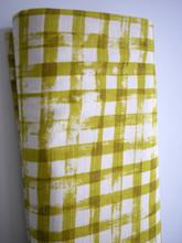 Simple - Checks - Mustard (Barkcloth)