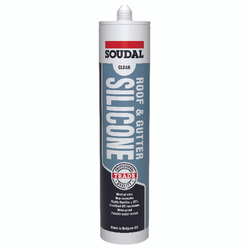 Soudal Roof and Gutter Silicone - Grey