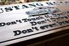 garage rules sign