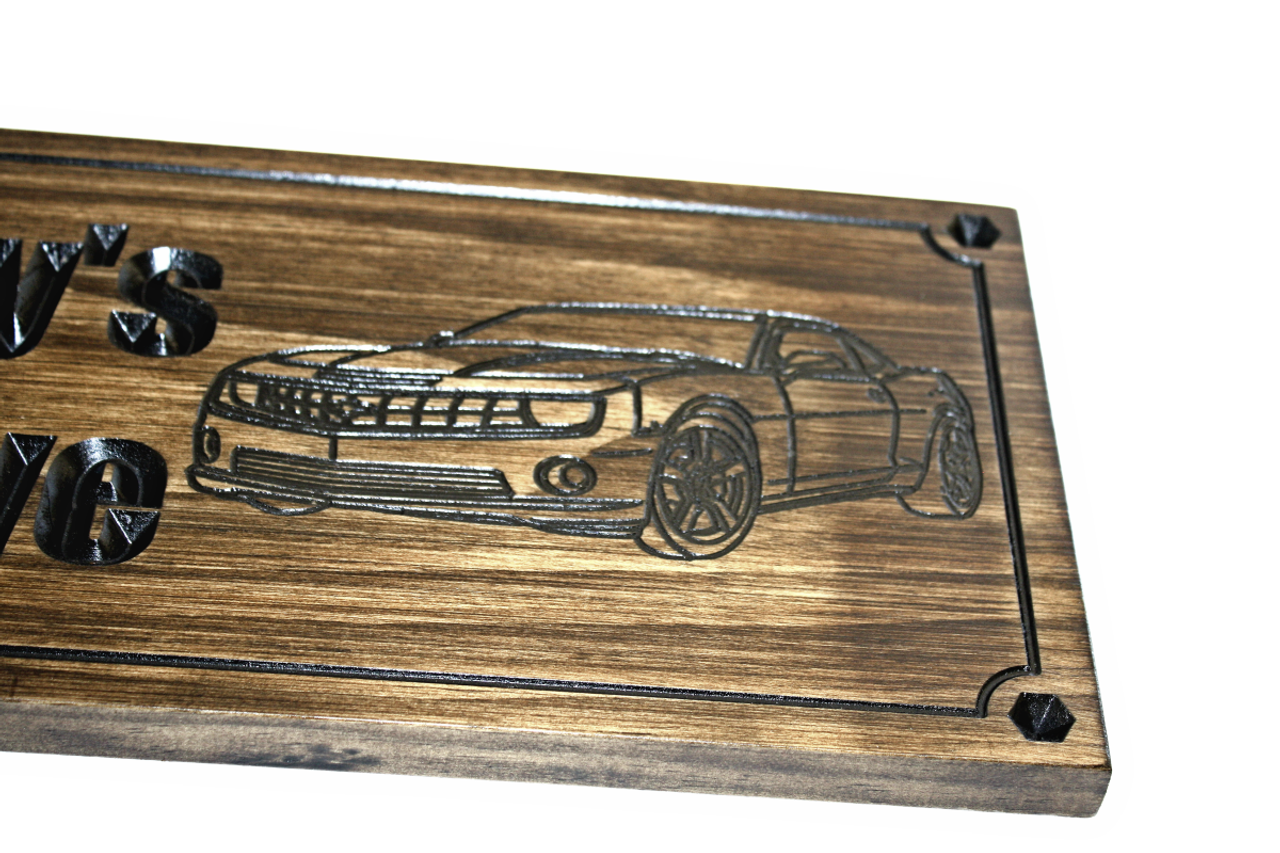 man cave sign with  camaro