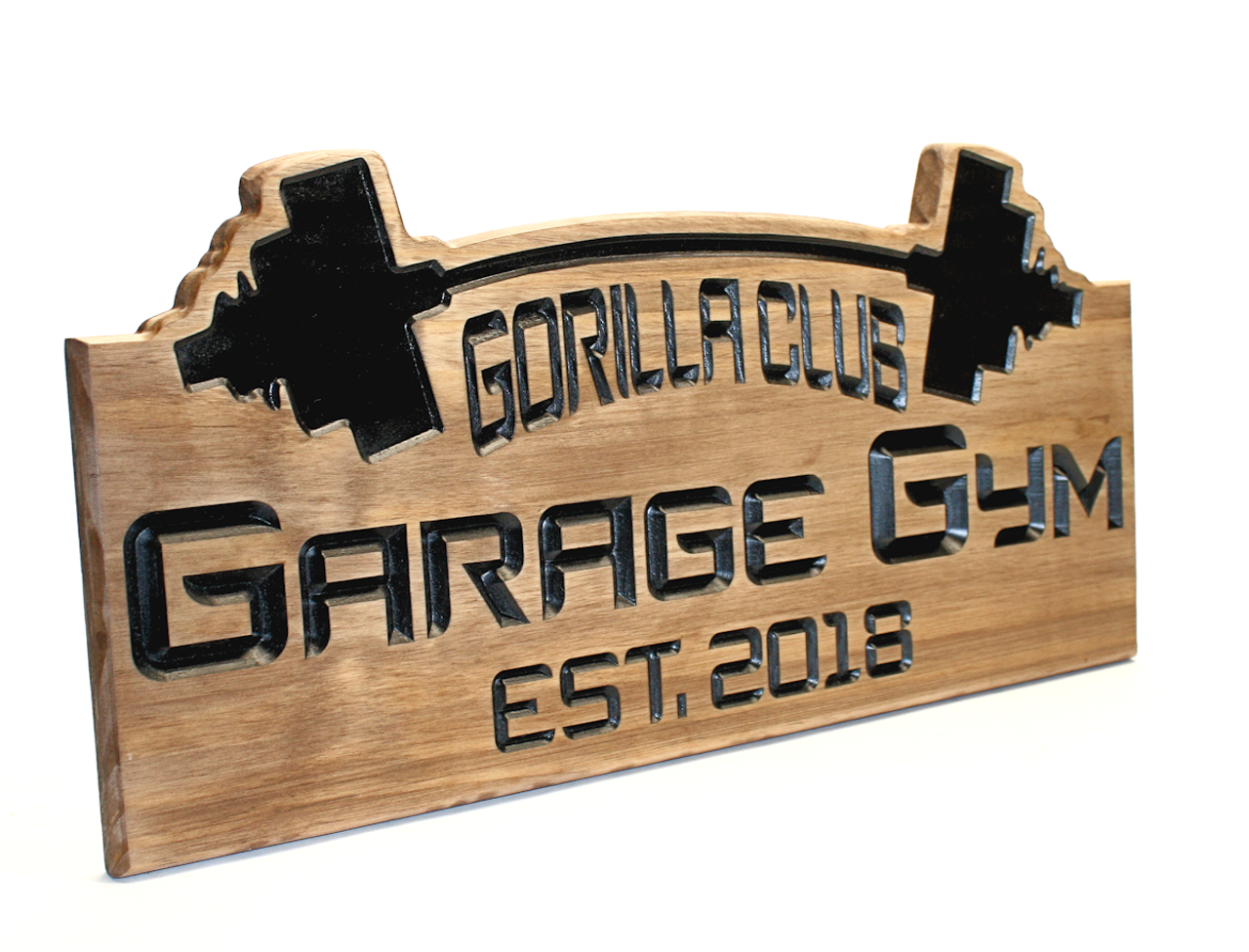 personalized garage gym sign