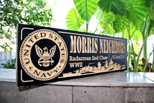 US navy sign uss leutze