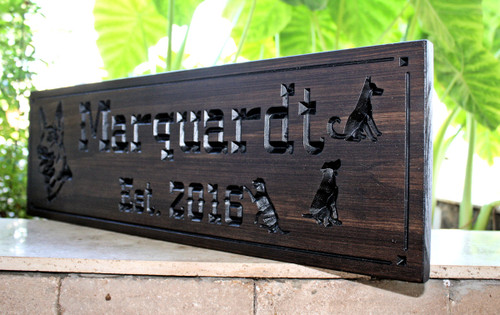 German Shepard wood Sign