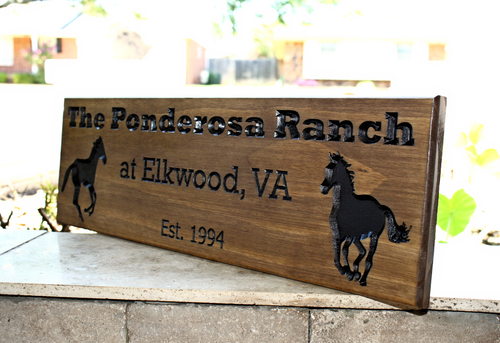 horse farm sign