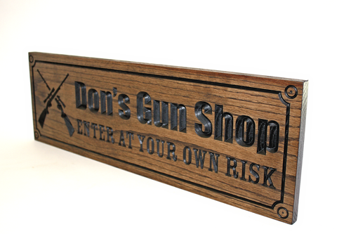 Gun room OAK Sign
