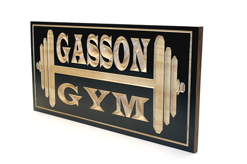 Personalized gym sign for your home