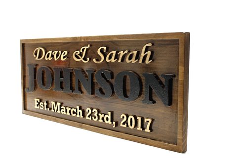 family name signs for outdoors