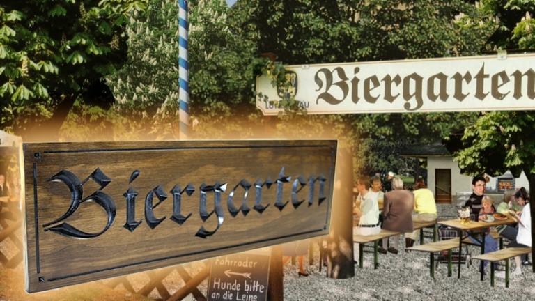 Biergarten Sign /// beergarden Sign