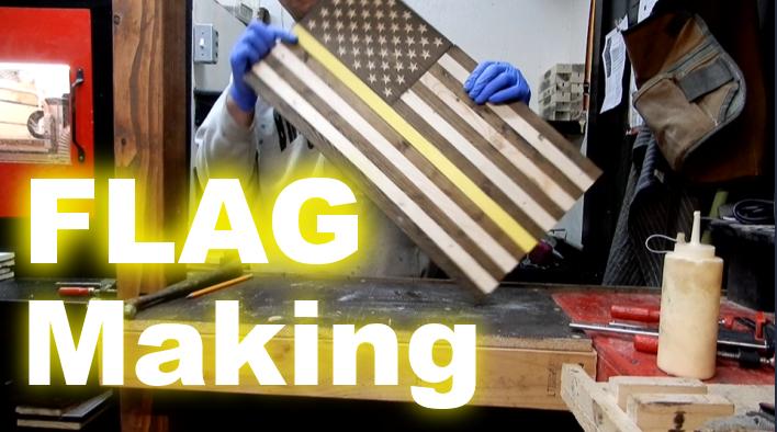 USA rustic flag making
