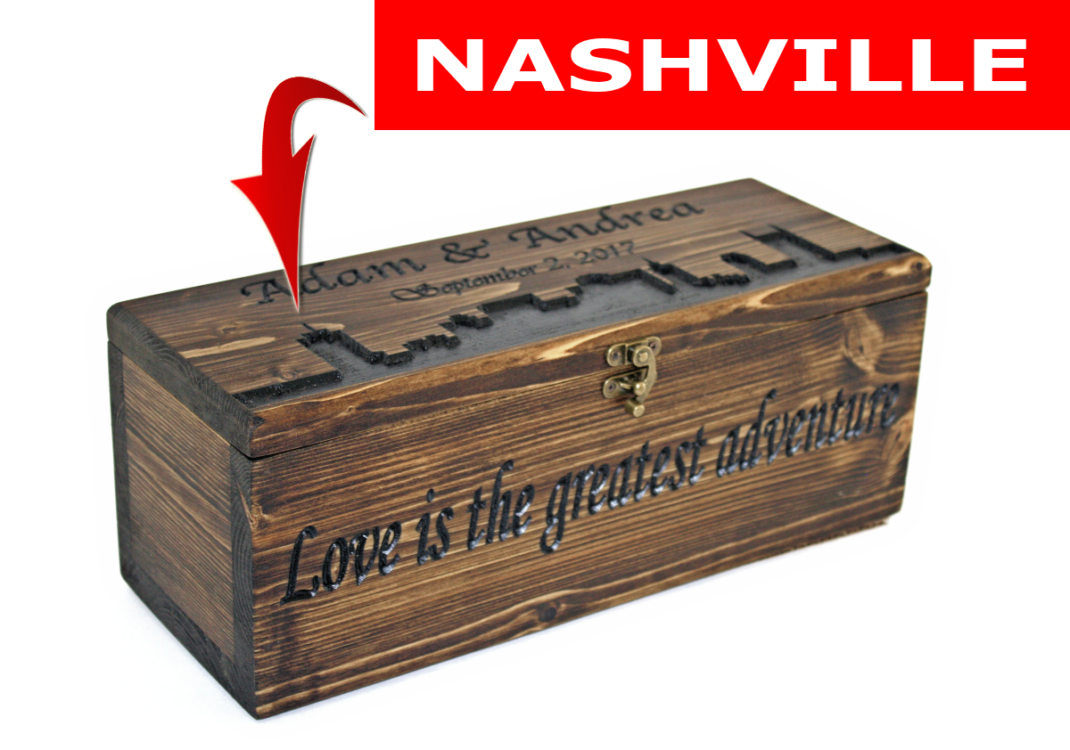 NASHVILLE Skyline wine box