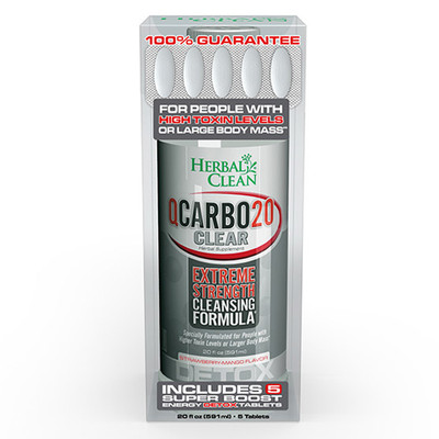 Herbal Clean QCarbo20 Clear Strawberry-Mango 20 fl oz (591ml)