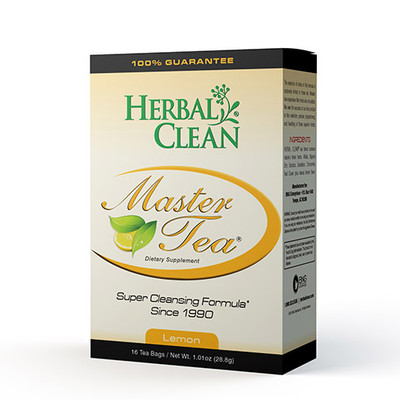 Herbal Clean Master Tea Super Cleansing Formula Lemon 16 Tea Bags