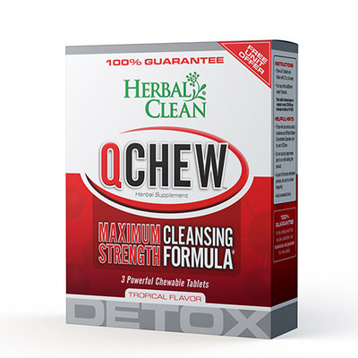 Herbal Clean QChew Tropical Detox 3 Chewable Tablets