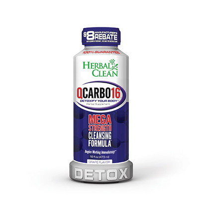 Herbal Clean QCarbo16 Mega Strength with Eliminex Grape 16 fl oz (473 ml)