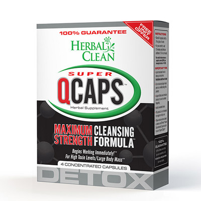 Herbal Clean Super QCaps Maximum Strength Cleansing Formula 4 Capsules