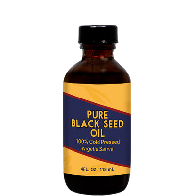 Herbal Tea House 100% Pure Cold Pressed BLACK SEED OIL 4oz