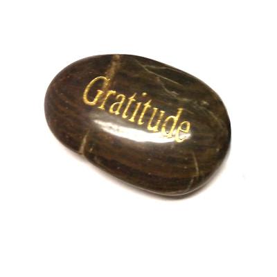 Engraved Inspirational River Stone - GRATITUDE