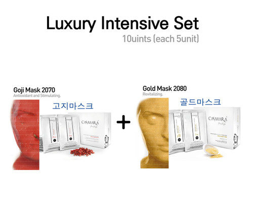 [Multi Luxury Set] Casmara Mask Gold+Goji 1Box (10units)