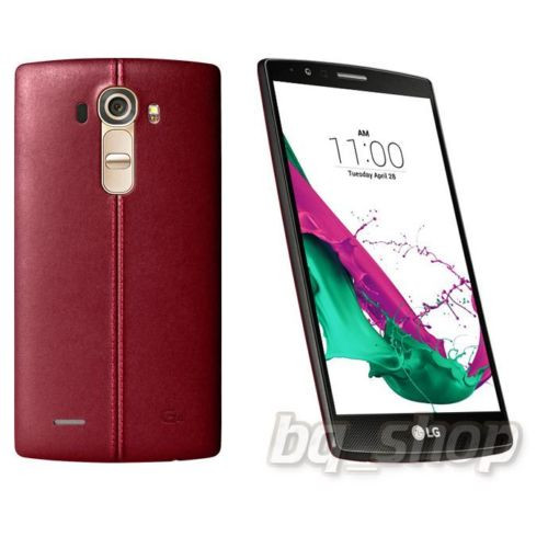 """LG G4 Dual Sim H818 32GB Red Leather 5.5"""" LCD 3GB 16MP Android Phone"""