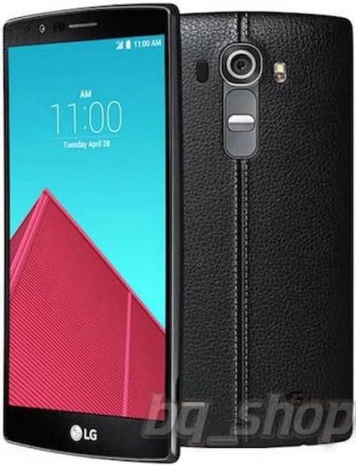 "LG G4 Dual Sim H818 32GB Black Leather 5.5"" LCD 3GB 16MP Android Phone"