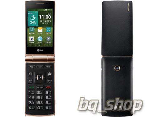 LG Wine Smart Quad Core HVGA 8MP Black Classic Folding Android Phone
