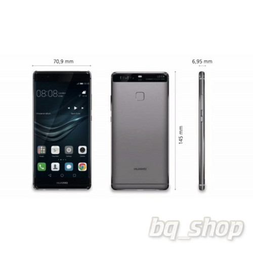 "Huawei P9 Grey Dual SIM 32GB 5.5"" Octa Core 3GB RAM 12MP Android Phone"