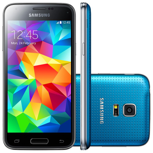 "Samsung Galaxy S5 Mini G800H Blue Quadcore 4.5""S.AMOLED 16GB 8MP Phone"