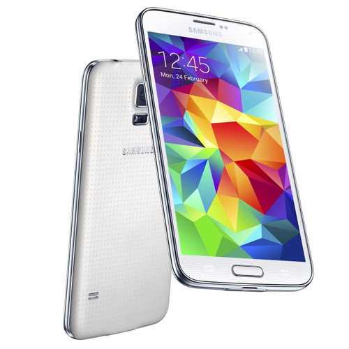 """Samsung Galaxy S5 G900h White 5.1"""" 16MP Quad-Core IP67 Android Phone"""