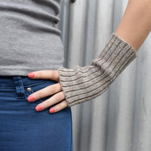 Wool Wrist Warmers - Grey Marl