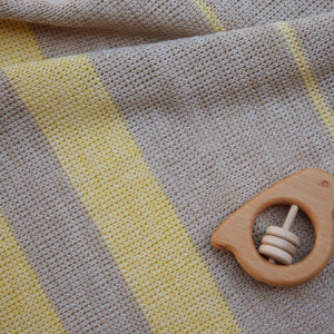 Lemon merino wool baby blanket