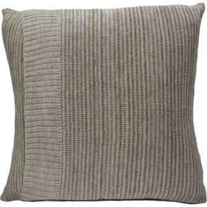 Knitted Wool Cushion - Linen Stripe