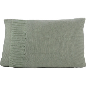 Knitted Wool Cushion - Mint