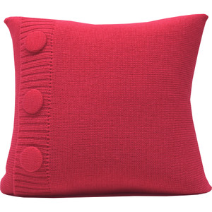 Knitted Wool Cushion - Pink