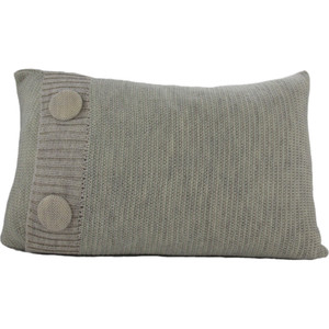 Knitted Wool Cushion - Mint and Stone