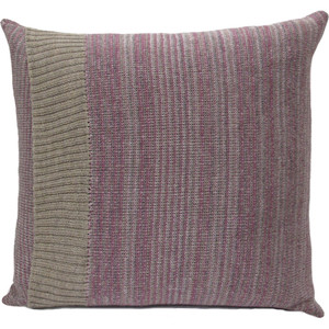 Knitted Wool Cushion - Plum Stripe