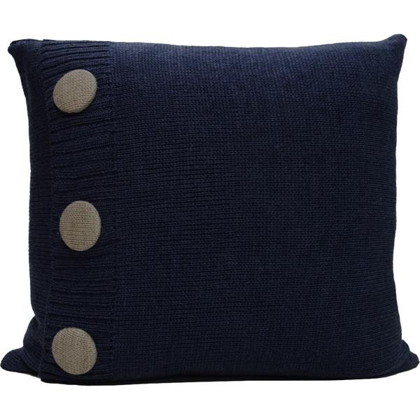 Knitted Wool Cushion - Denim