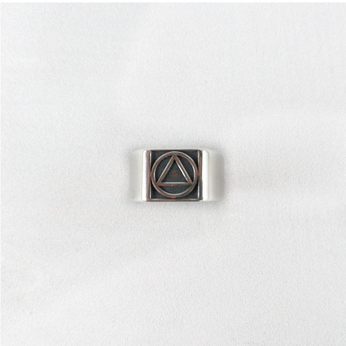 NEW  Inset Circle Triangle Ring