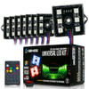 8 Module 48 LED RGB Color Wireless Exterior Truck Bed Rock Lights