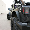 Metal Fenders Steel Flat Top for Wrangler JK 2007-2017