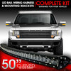 LED Light Bar Curved 288W 50 Inches Bracket Wiring Harness Kit for Ford F150 /  SVT Raptor 2010-2014