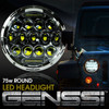 7 Inch Honeycomb Array Chrome LED Motorcycle Headlight