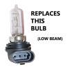 80W LED For Kawasaki ATV 92069-0019 Headlight Bulbs (2 Pack)