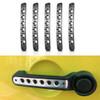 Silver Door Handle Inserts Aluminum 5pcs for 2007-2018 Jeep Wrangler JK 4 Door